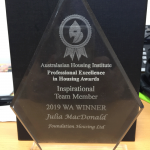 Staff member wins sector award