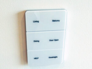 Control pad in Arthouse apartment